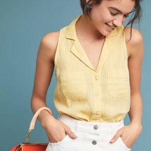 Anthropologie MAEVE Felicity Linen Sleeveless Top